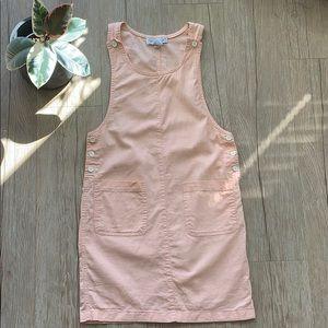 Vintage • Peach Linen Overall Dress